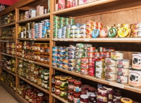 Canned meats, fish and pickles